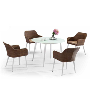 Pedestal Round Glass Circle Dining Room Set Para Restaurante